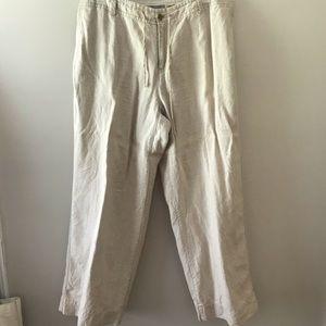 Liz Claiborne Sloan linen pants 18W